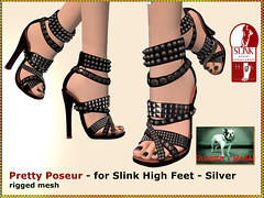 Bliensen - Pretty Poseur - Shoes for Slink High - silver