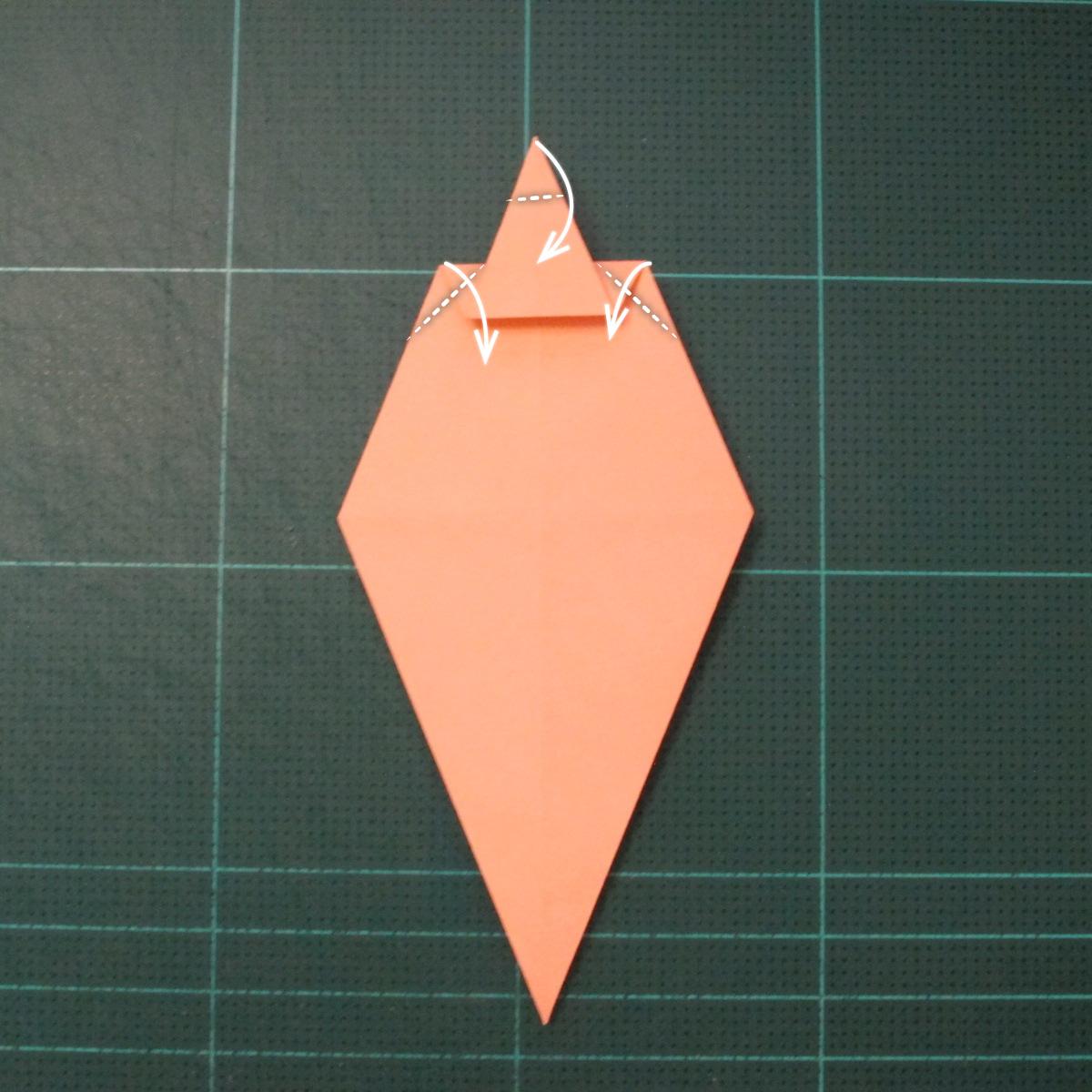 วิธีพับกระดาษเป็นรูปปลาโลมาแบบง่าย (Easy Origami Dolphin) 008