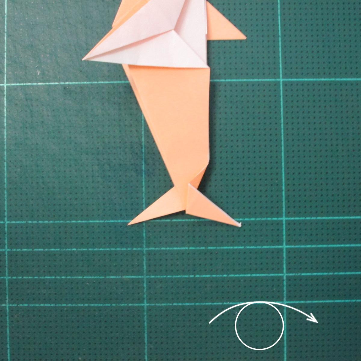 วิธีพับกระดาษเป็นรูปปลาโลมาแบบง่าย (Easy Origami Dolphin) 020