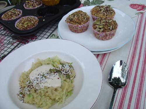 Quinoa & Apple Breakfast Salad with Toasted Seedy Sprinkle