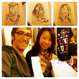 #japon #metro #portraits #urbansketch