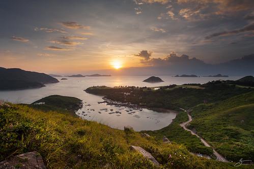 sea seascape reflection water sunrise canon landscape hongkong 香港 西貢 布袋澳 田下山 5dmarkii