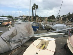 Storm tossed dinghies at FSC