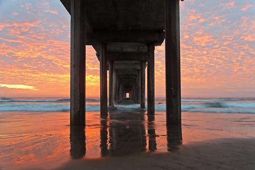 sunset sea reflection beach pier sandiego dusk lajolla scripps scrippspier scrippsinstitutionofoceanography explored