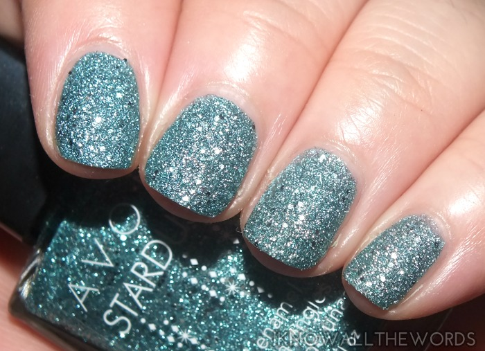avon stardust nail enamel- jewel blue (3)