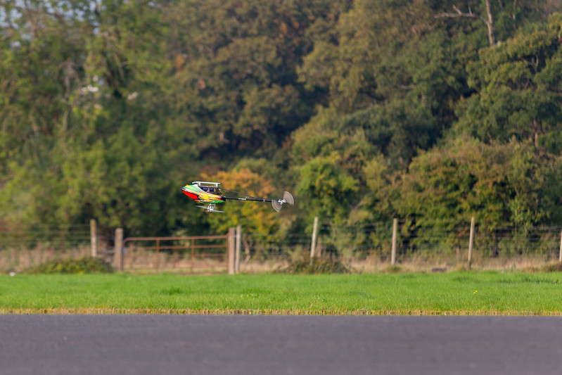 Dave flying his TREX700E.