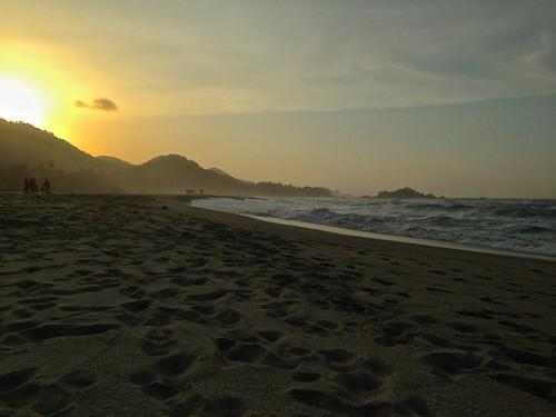 Arrecifes beach sunset, Tayrona