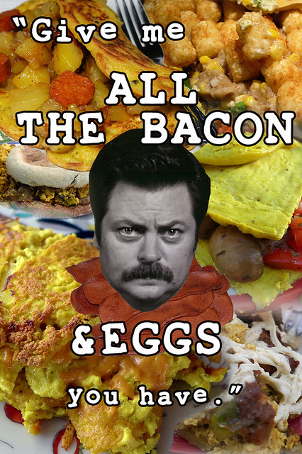 all the bacon and eggs collage (with quote)