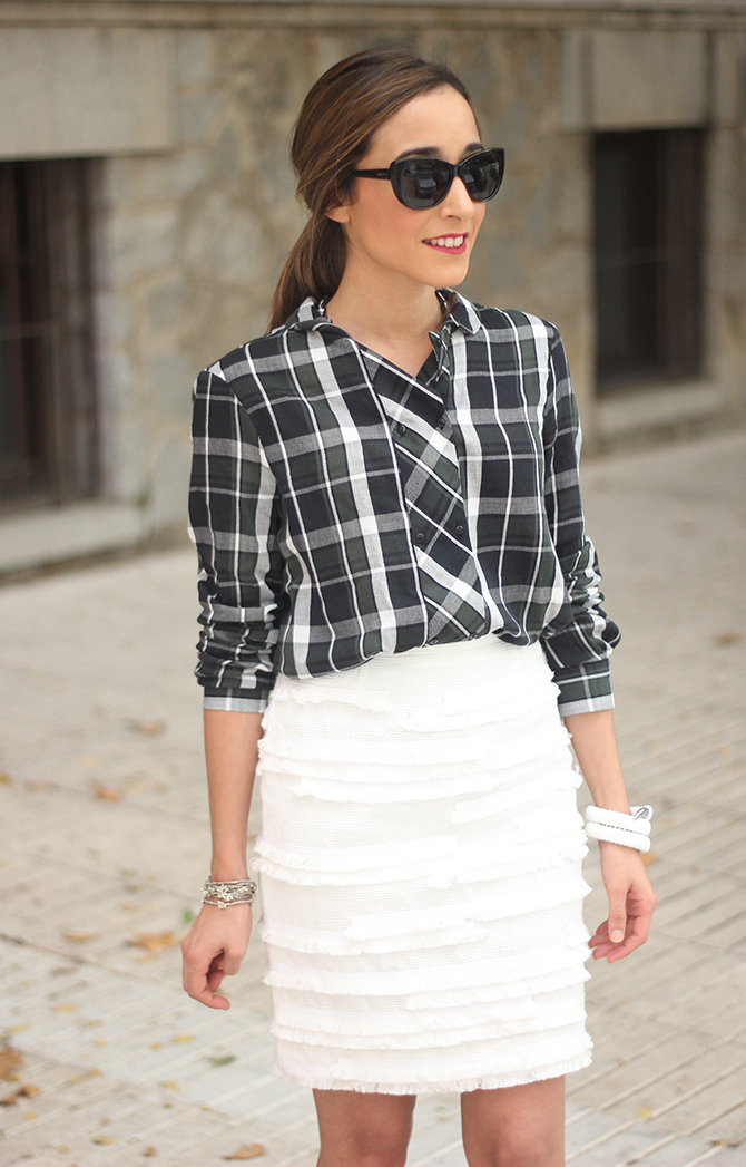 White Skirt & Plaid Shirt_ Besugarandspice19