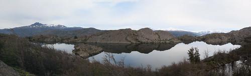 Torres del Paine: trek du W. Jour 4: un lac mirroir.