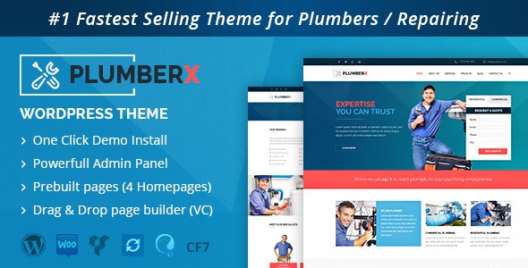 Plumber v2.51 - Construction and Repairing WordPress Theme
