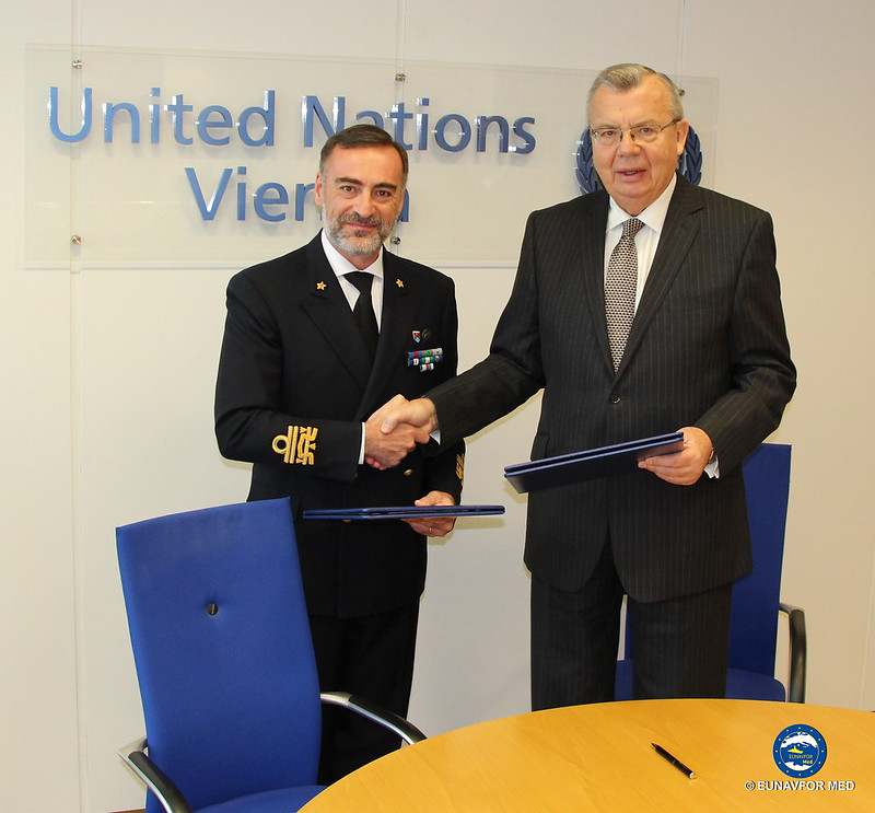 OpCdr working agreement with UNODC- EUNAVFOR MED