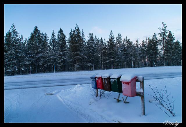 Laponia Tankavaara aurora boreal - Buzones