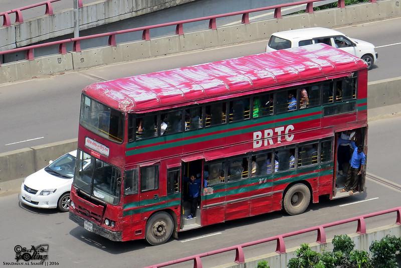 BRTC Ashok Leyland Titan double-decker,Bangladesh