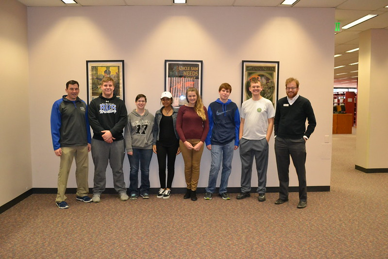 12.21.16 Bennington High School Students Visit Main Library