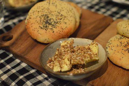 Chic Pea: Almond & potato bread with Pepe Saya dukkah butter