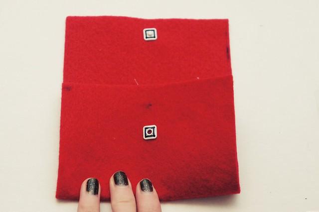 felt card case