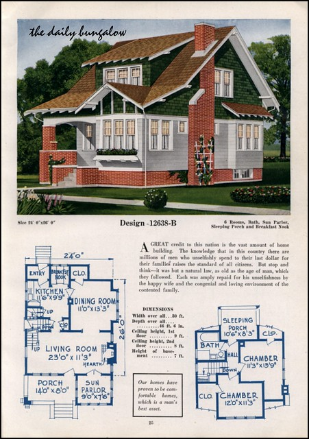 1925 26 c l bowes house plans flickr photo sharing for 1925 bungalow floor plan