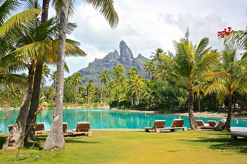 view from St. Regis Bora Bora spa