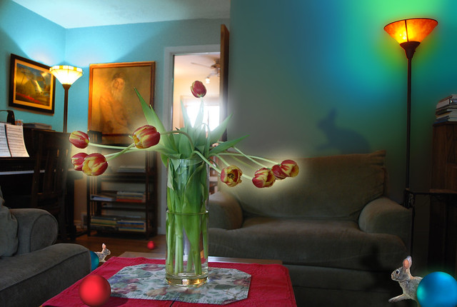 Another Look, Into the Light, Tulips and Living Room with Red Ball, May 16, 2014 11 full bpx