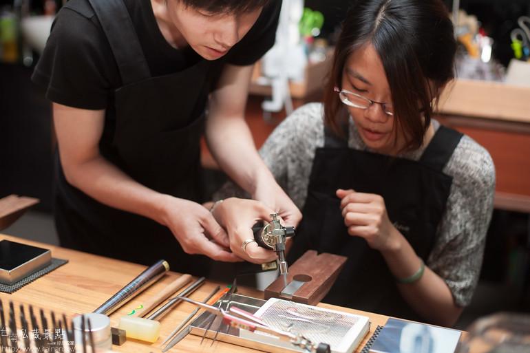 台南私藏景點--小安的店DIY銀飾 (8)