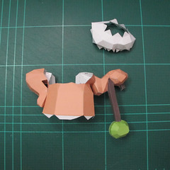 วิธีทำโมเดลกระดาษคุกกี้รสคุกกี้แอนด์ครีม  (Cookie Run Cream Cookie Papercraft Model) 021
