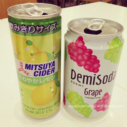 Mitsuya Cider-lemon, Demisoda-grape