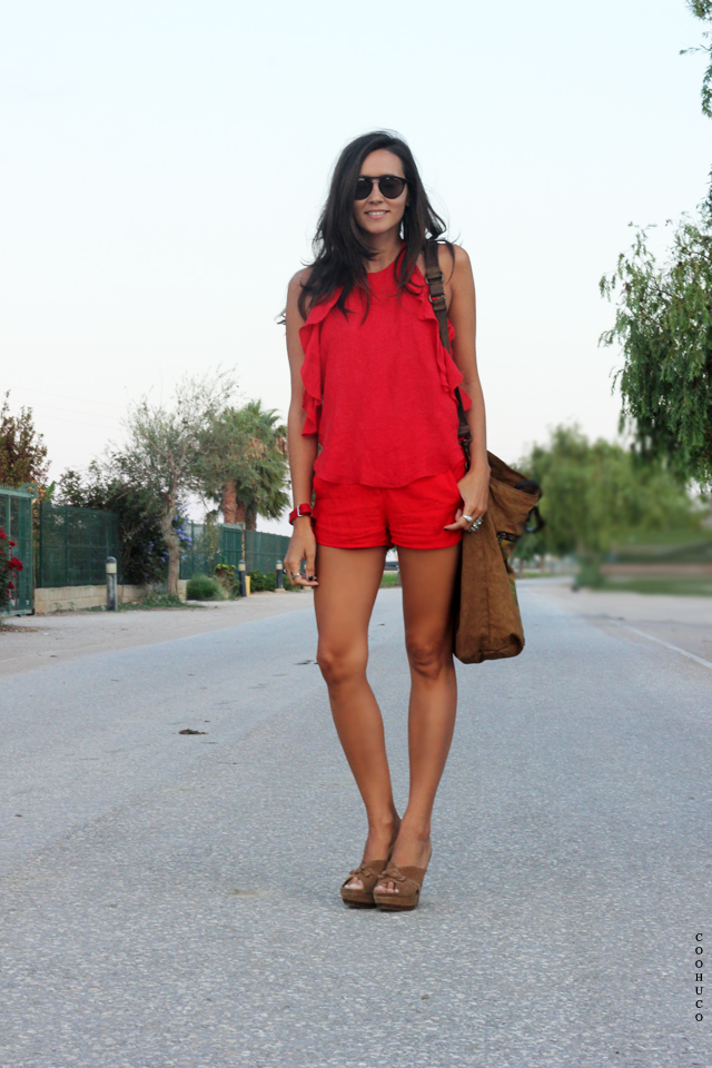 woman red dress coohuco 11