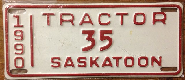 Tractor License Plates : E c edc z g