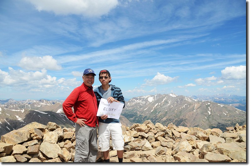 Matthew & me on the summit of Mt. Elbert