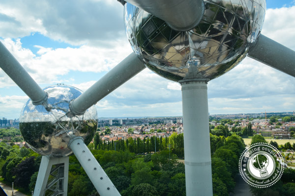 View from Atomium Brussels