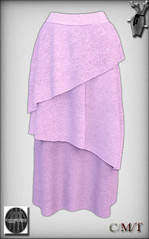 ~DM~Violet Tulip Maxi Skirt Vendor Art work