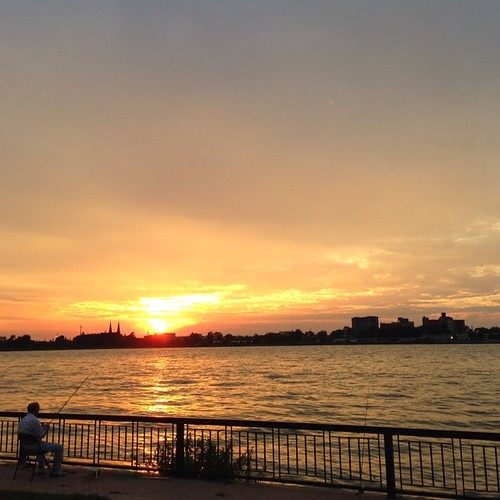Sunset on the Detroit River