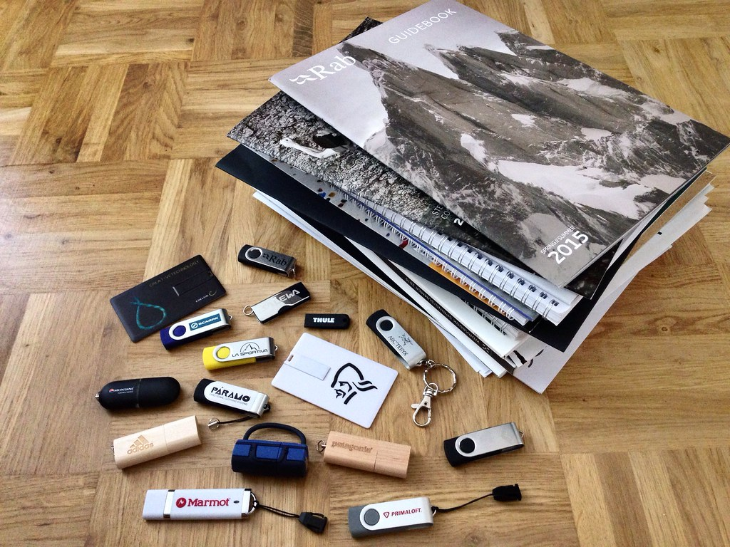 OutDoor 2014 catalogues & USB sticks