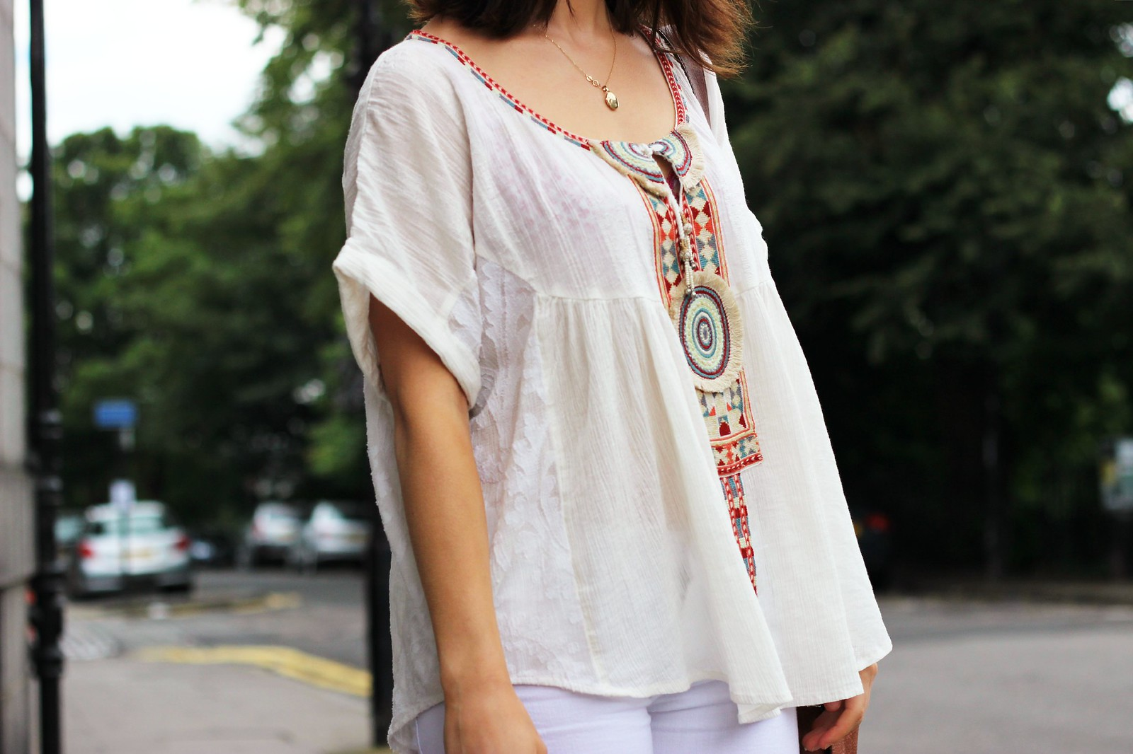 Free people embroidered smock top 5