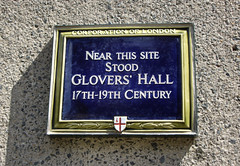 Photo of Glovers' Hall, London blue plaque