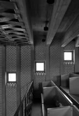 interior. hans christian hansen, architect: tagensbo kirke / church, copenhagen 1966-1970.