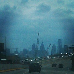 Philly beckons us home from the blue distance.