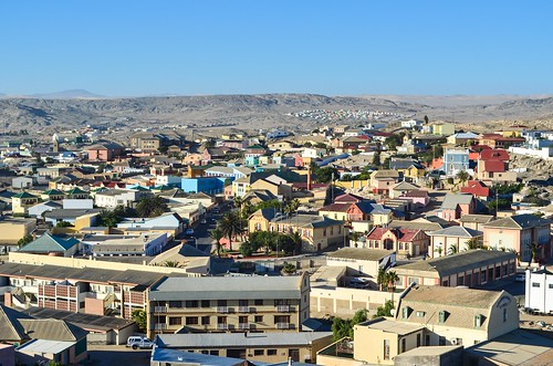 Panorama of Lüderitz, and townships in the background