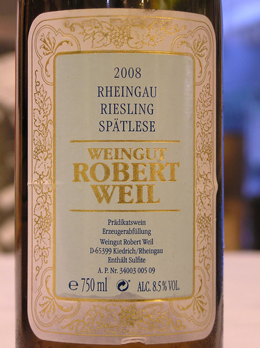 Robert Weil 2008 Riesling Spatlese Rheingau