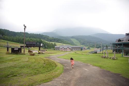 磐梯山高原ホテル裏