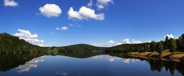 Norway - landscape along the big river Glomma