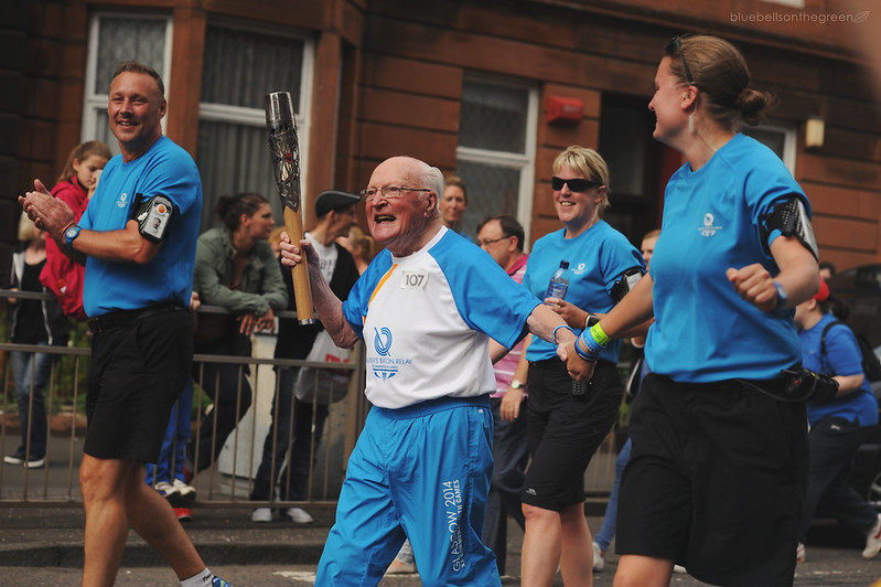 Baton Relay : 93 year old Jamie Stuart