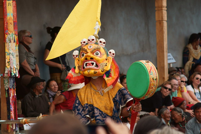Cham dance, festival at Takthok Gompa. Ladakh, 06 Aug 2014. N068