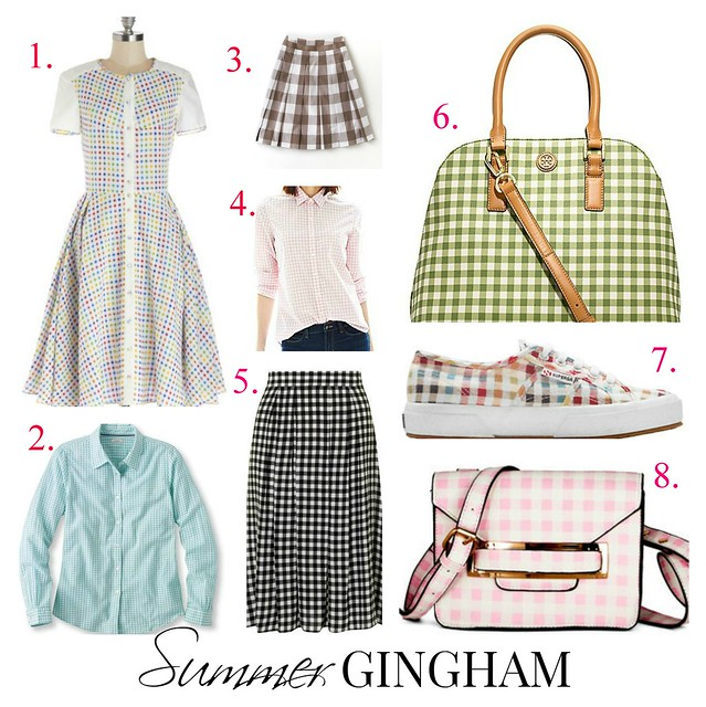 summer gingham picks via Kristina J blog
