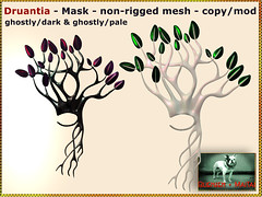 Bliensen - Druantia - Mask - ghostly-dark & ghostly-pale