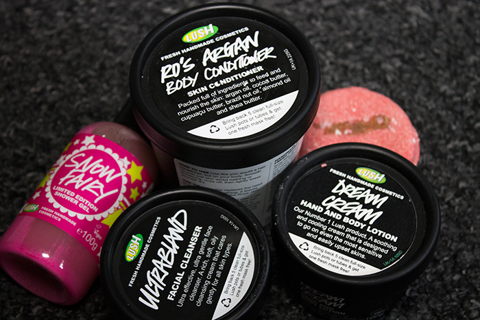 Top 5 Lush Favourites: Snow Fairy, Ultrabland, Dream Cream, New and Ro's Argan Body Conditioner