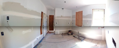 Kitchen - Drywalled and Primed