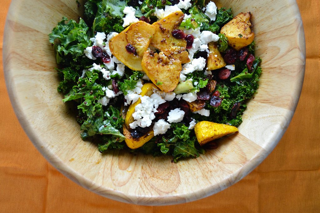 Kale, Squash, Quinoa Salad with Maple Citrus Dressing | Things I Made Today