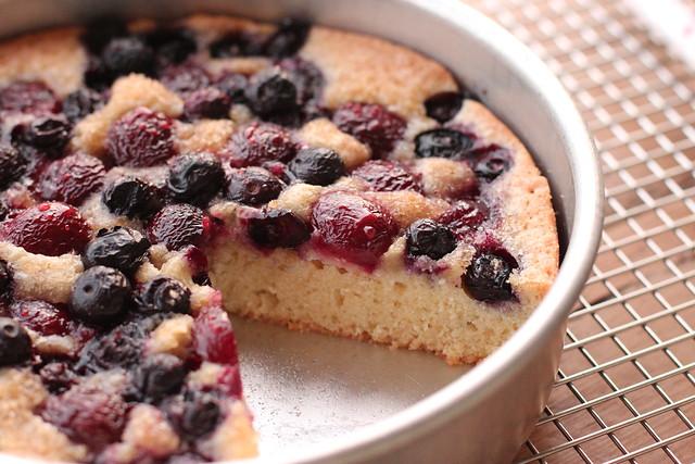 Cherry Blueberry Cake